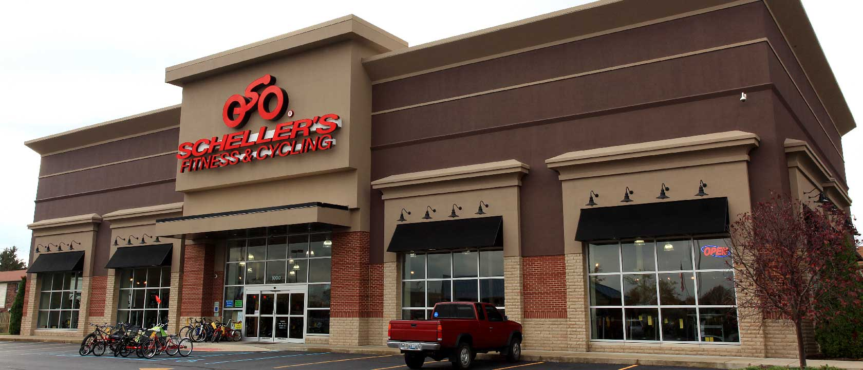 Commercial Painting in Louisville | HF Steilberg, Professional Painters | Schellers Fitness & Cycling exterior commercial painting project